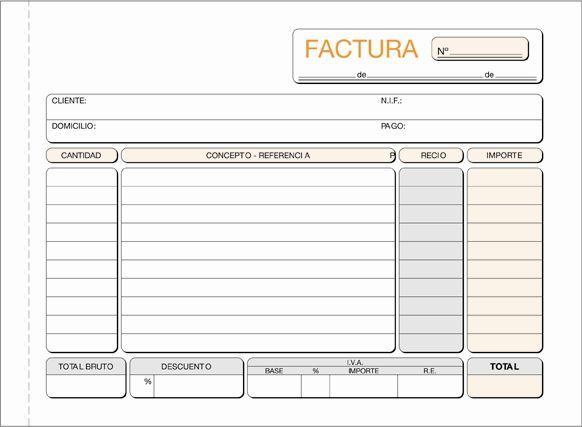 Resultado De Imagen De Factura En Blanco Para Rellenar Imagenes De Facturas Facturas Presupuesto Excel