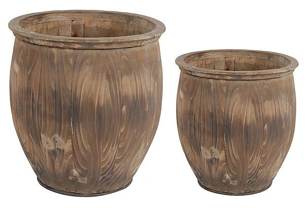 134 best madrona images on pinterest furniture for the for Wooden barrel planter ideas