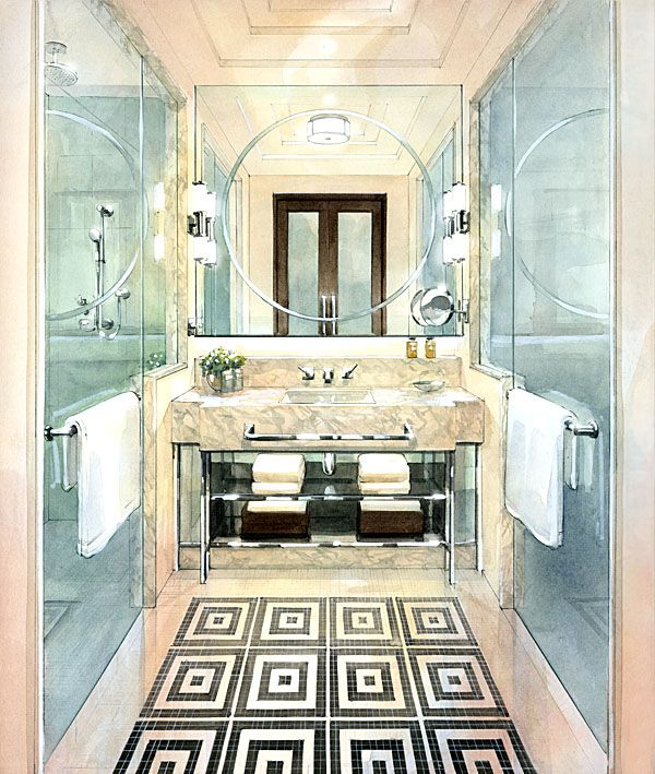 Hotel Bathroom 3D. google Sketchup. Clean and exclusive mood. I like that image because of elegant and clean feeling.