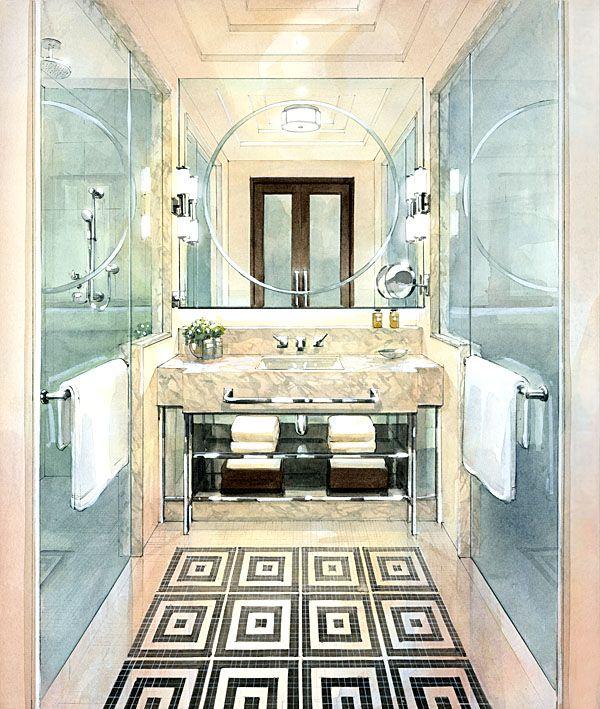 Hotel Bathroom Layout: 25+ Best Ideas About Hotel Bathrooms On Pinterest