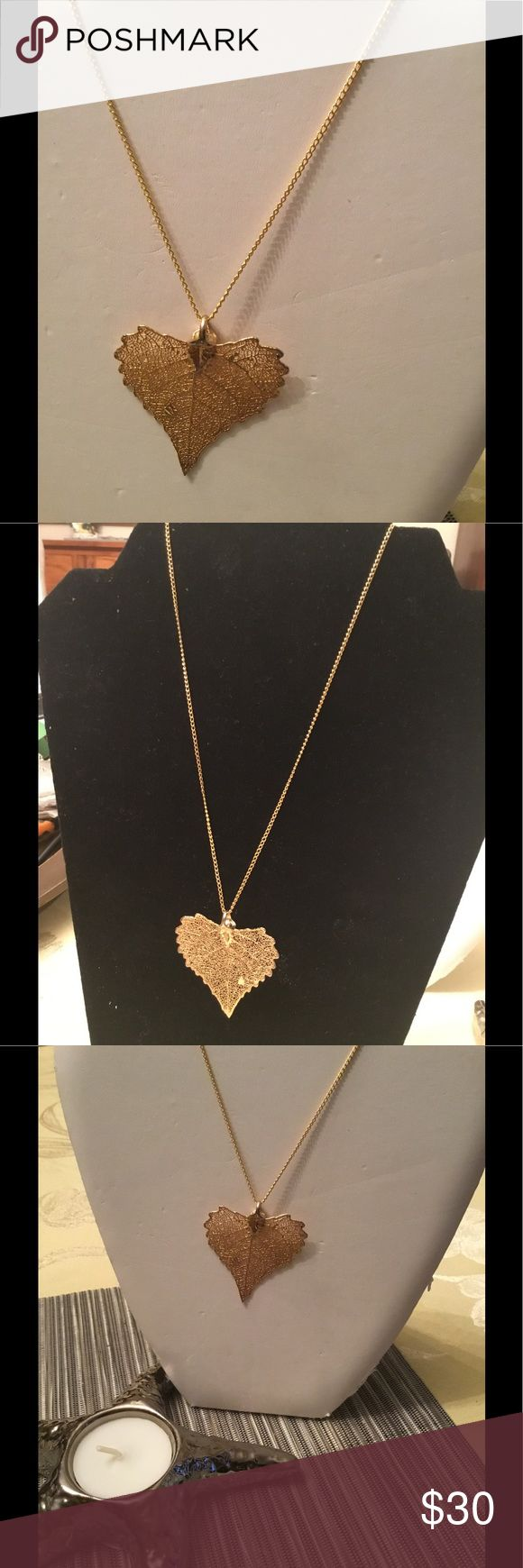 Real Maple Leaf Necklace Dipped in 18kt gold! Unique One of A Kind 18kt Maple Leaf that is a real Leaf! It comes with a gold plated chain but. Happy to offer a Gold Filled one for an additional $9.00 . Made with Love, light and positive energy. I also can add a charm. Pacific Rim Collection Jewelry Necklaces