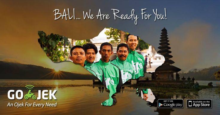 GO-JEK sudah available di Bali! Sambil bertamasya pun bisa pesan GO-JEK! Download appnya di www.go-jek.com/app