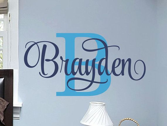 Hey, I found this really awesome Etsy listing at https://www.etsy.com/listing/265137643/boys-name-wall-decal-boys-name-decal