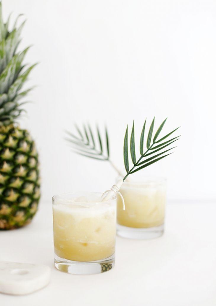 Cocktail Recipe for a Pina Colada Spritzer