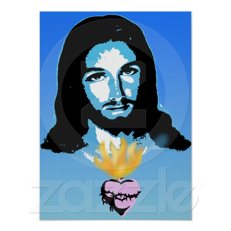 jesus pop art poster jesus art posters and art. Black Bedroom Furniture Sets. Home Design Ideas