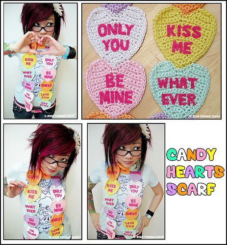 Candy Heart scarf ~ love Twinkie Chan!