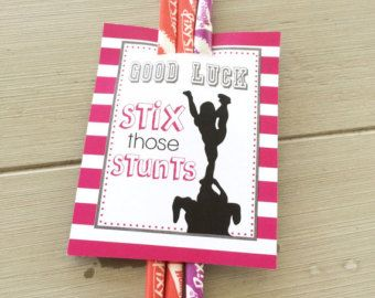Customized Cheerleading Good Luck Favor Tags by EllaJaneCrafts