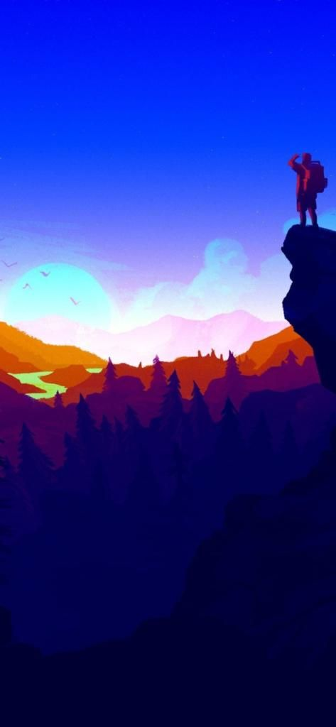 iPhone X 4k Wallpaper firewatch blue | Awesome Wallpapers - PC8.org in 2019 | Iphone wallpaper ...