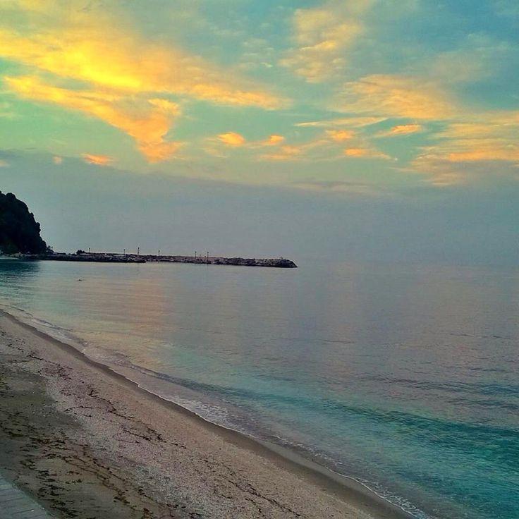 Beautiful sunset at Agios Ioannis, Pelion!