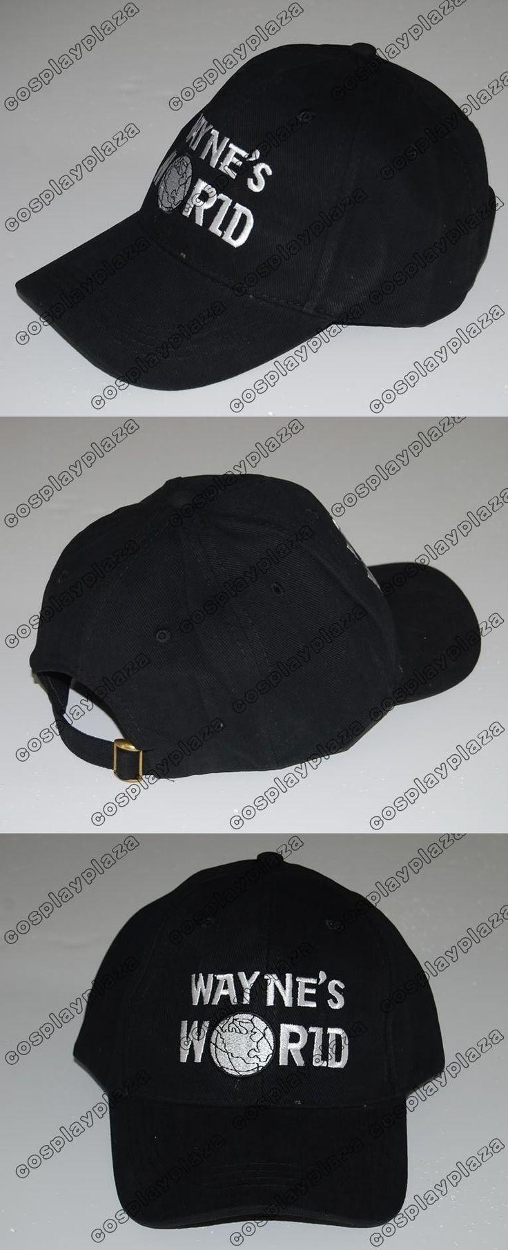 Black Wayne's World Hat Cosplay Waynes World Baseball Caps Earth Hats Embroidered Trucker Dad Hat Unisex Cap Adjustable