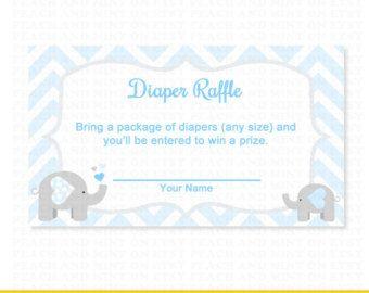 Free Printable Elephant Diaper Raffle | ... Raffle Ticket   Printable Baby  Shower Games