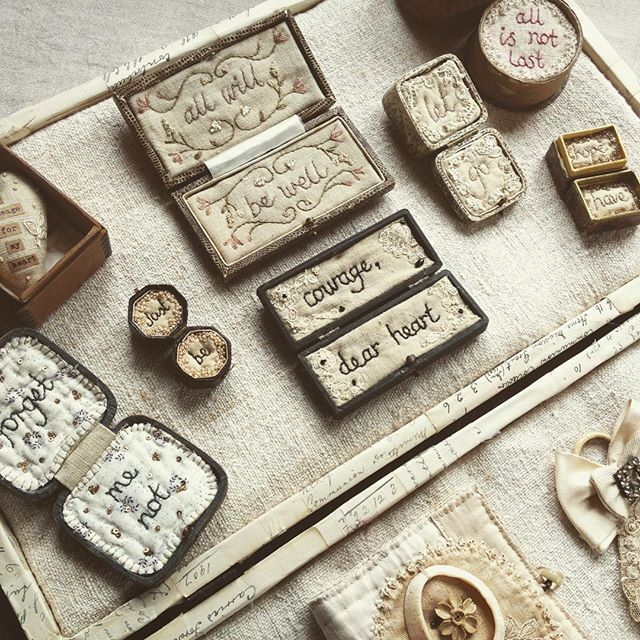 Inspiration for my 'textile tokens' Workshop at @hopeandelvis this weekend...