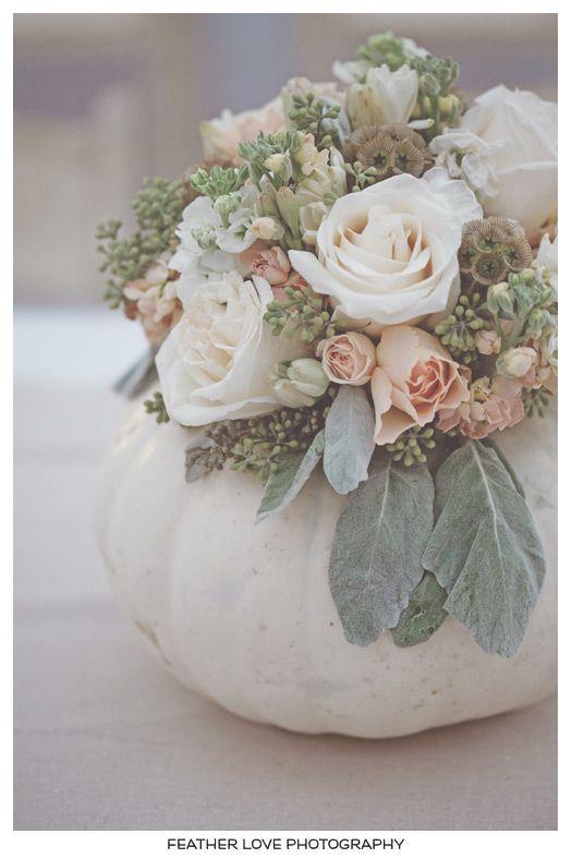 White pumpkin vase fall wedding ideas pinterest