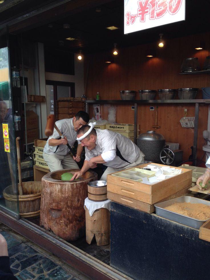 Mochi Tsuki (those people made Traditional Mochi)