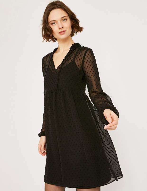 acheter une robe noire en hiver