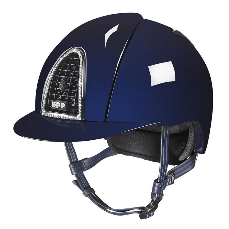 KEP ITALIA let's you chose your style! Total sparkling blue + crystal clear Swarovski ... A superior combination for a superior helmet!