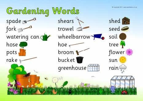Gardening word mat