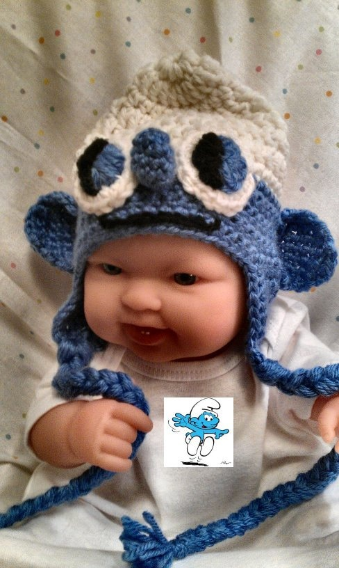 Smurf Inspired Newborn Boy or Girl Hat  by ConnMorCreations, $20.00
