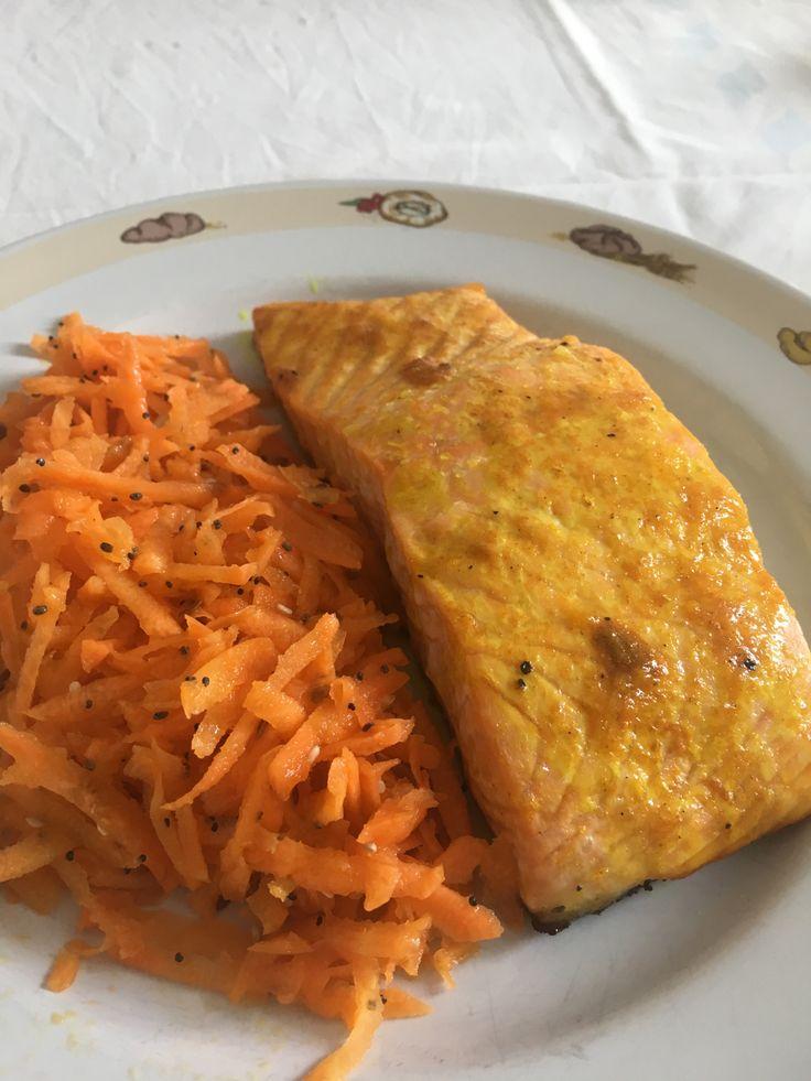 Salmone all'arancia e curcuma – Orange and turmeric Salmon