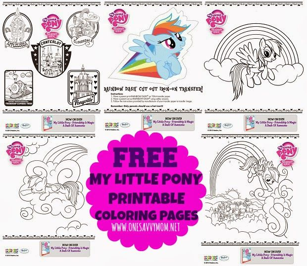 My Little Pony Free Printable Coloring Pages Activity Sheets