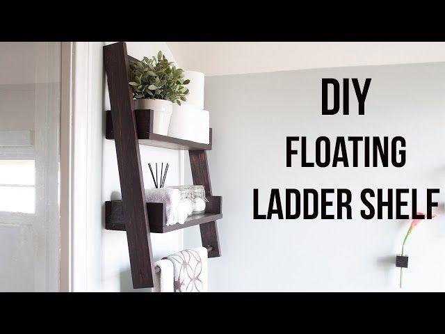 Library Youtube Floating Shelves Diy Bookcase Diy Bathroom Wood Shelves