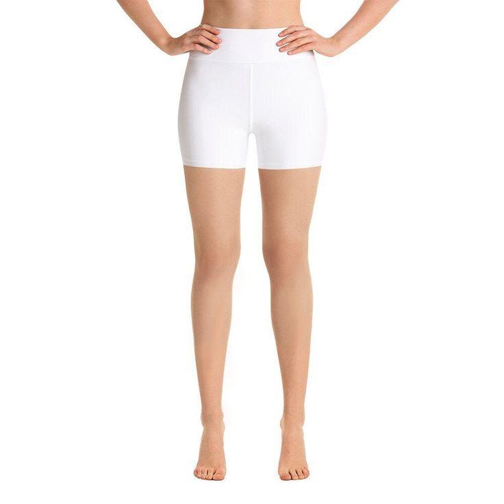 White Yoga Shorts, High waisted shorts, Solid white cycling shorts, Running shorts, Workout Shorts, Many sizes