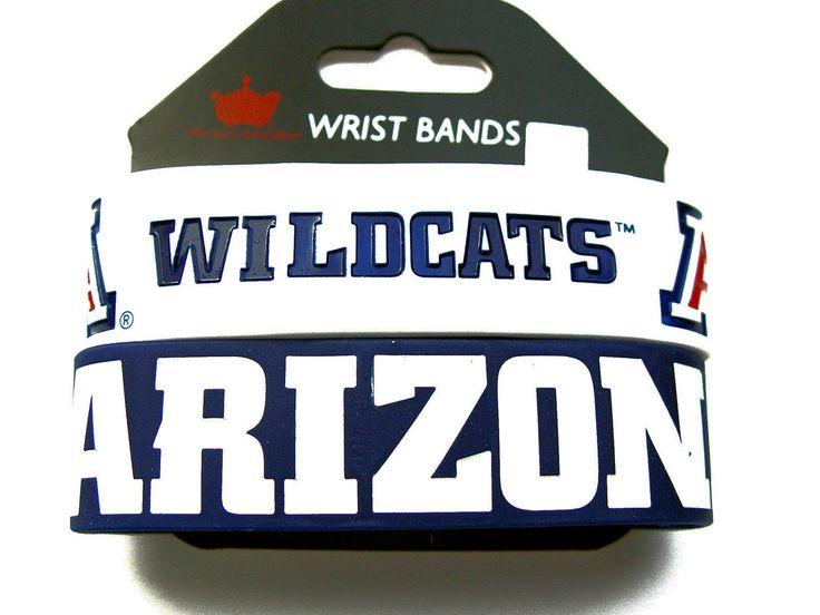 Arizona Wildcats 2 Pack Rubber Wrist Bands