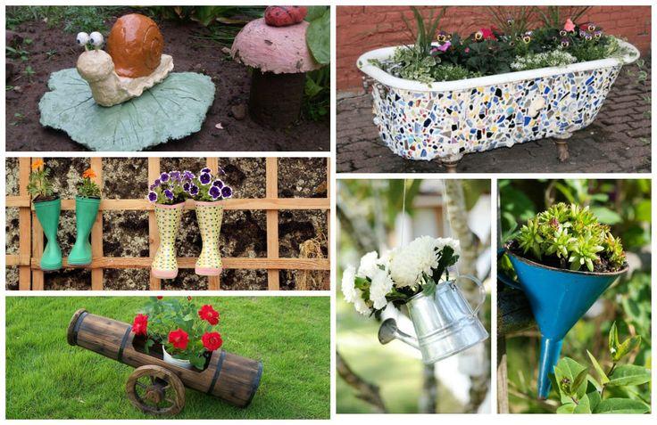 Dekorácia interiéru alebo exteriéru je veľmi dôležitá. S trochou inšpirácie si viete dekorácie vyrobiť aj zo starých predmetov. Pozrite sa na zbierku nápadov, ako skrášliť záhradu tak, aby...