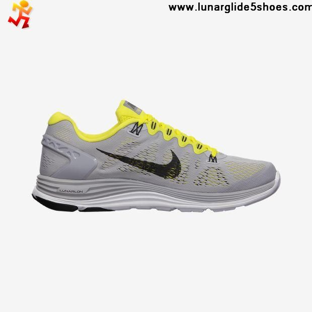 ... Nike LunarGlide 5 Wolf Grey/Black/Sonic Yellow ...