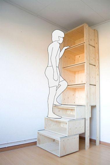 Etagère de rangement style escalier