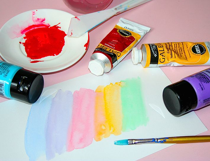 How To Make Acrylic Paints Act More Like Watercolors Acrylic