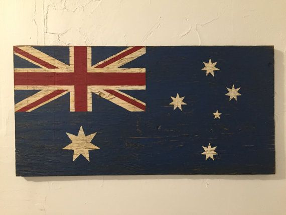 Australian Wood Flag Sign Australia sign flag sign by Halyard