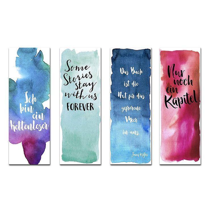 Geschenke Für Leseratten : 30 tolle geschenke f r leseratten watercolor bookmarks creative bookmarks bookmarks ~ A.2002-acura-tl-radio.info Haus und Dekorationen