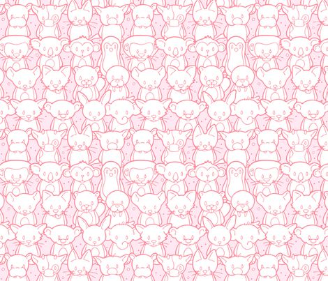 Happy Animals fabric by nossisel on Spoonflower - custom fabric