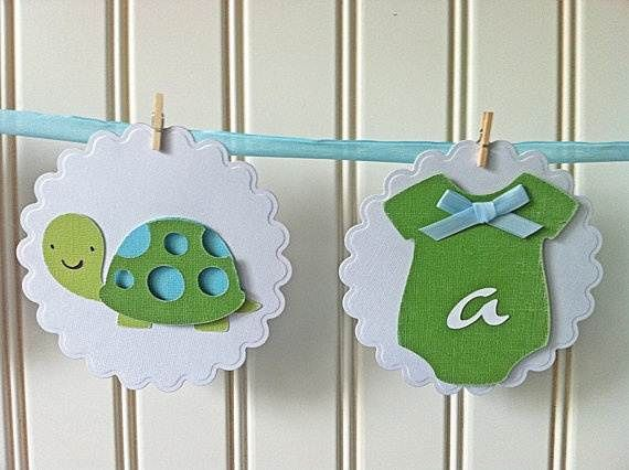 Turtle Baby Shower Centerpieces pamper party baby shower