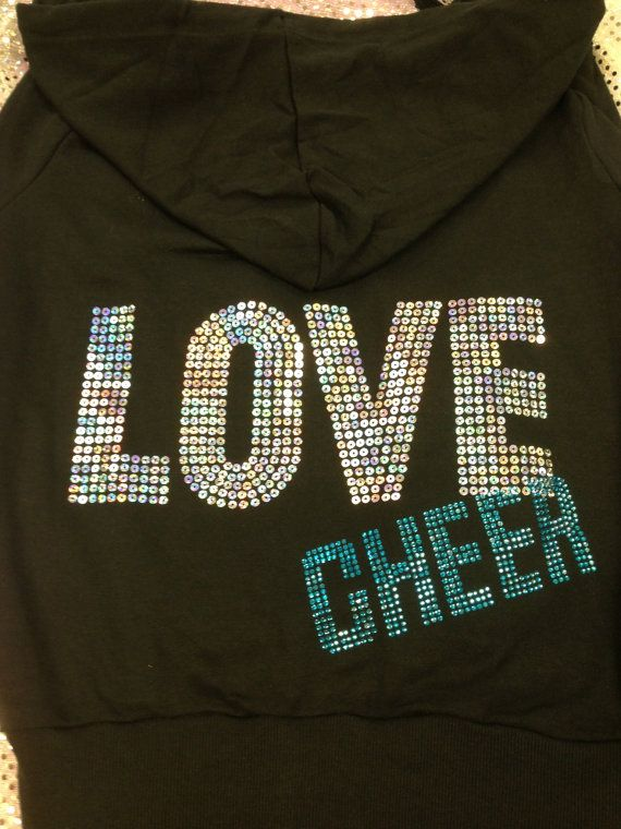 Cheer Jacket Hoodie Sweatshirt  Love Cheer by CheerLover2Worlds, $31.99