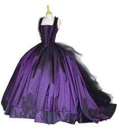 Purple wedding dresses 2011: Wedding Dressses, Ball Gowns, Gothic Wedding Dresses, Weddings, Purple Wedding, Goth Wedding, Black Wedding Dresses, Prom Dresses, Ballgown