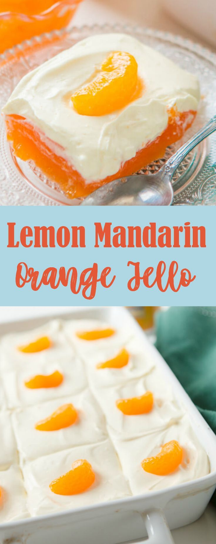 I grew up with this lemon mandarin orange jello salad at almost every single Thanksgiving and though I skip the shredded carrots this is a classic. via @ohsweetbasil