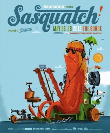 Sasquatch 2012: Jack White, Beck, Bon Iver & More #yeti #sasquatch #bigfoot