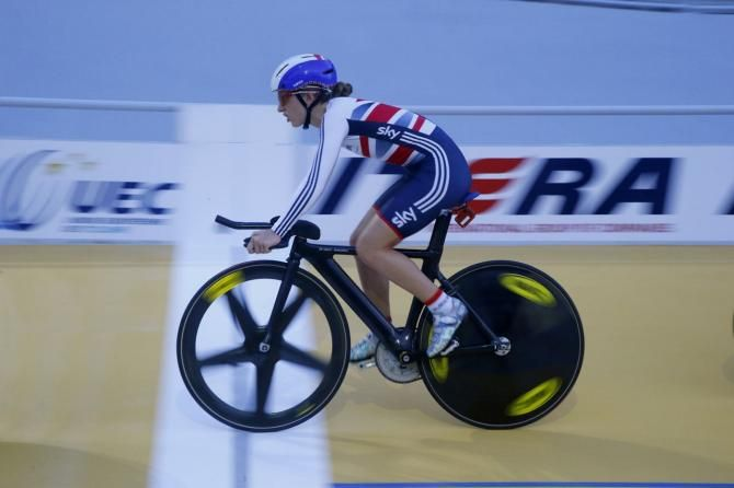 Riders train for Euro Track Championships in Guadeloupe Laura Trott of Great Britain Photo: © Bettini Photo