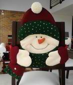 Descargar: Molde cubresillas muñeco de nieve | EcoArtesanias.com