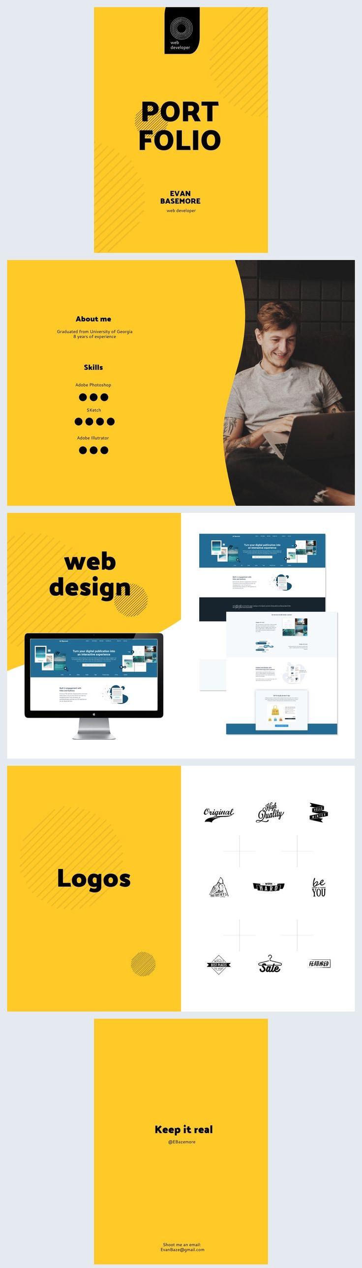 Free Web Developer Portfolio Template Web developer
