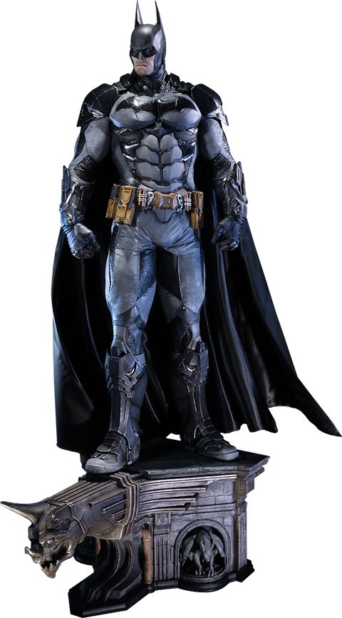 """Batman Polystone Statue Product Details Expected to Ship Jan 2016 - Mar 2016 License DC Comics Scale Polystone Statue Manufacturer Prime 1 Studio Product Size 34"""" H (863.6mm)* Tabletop View » Dimensional Weight  TBD Int'l Dim. Weight TBD Product Sku 902446 What's in the Box? The Batman Polystone Statue features:      Approximately 34 inches tall     Flexible Cape     Detachable Gargoyles     One (1) interchangeable palm     One (1) interchangeable palm for holding Batclaw ®... #{T.R.L.}"""