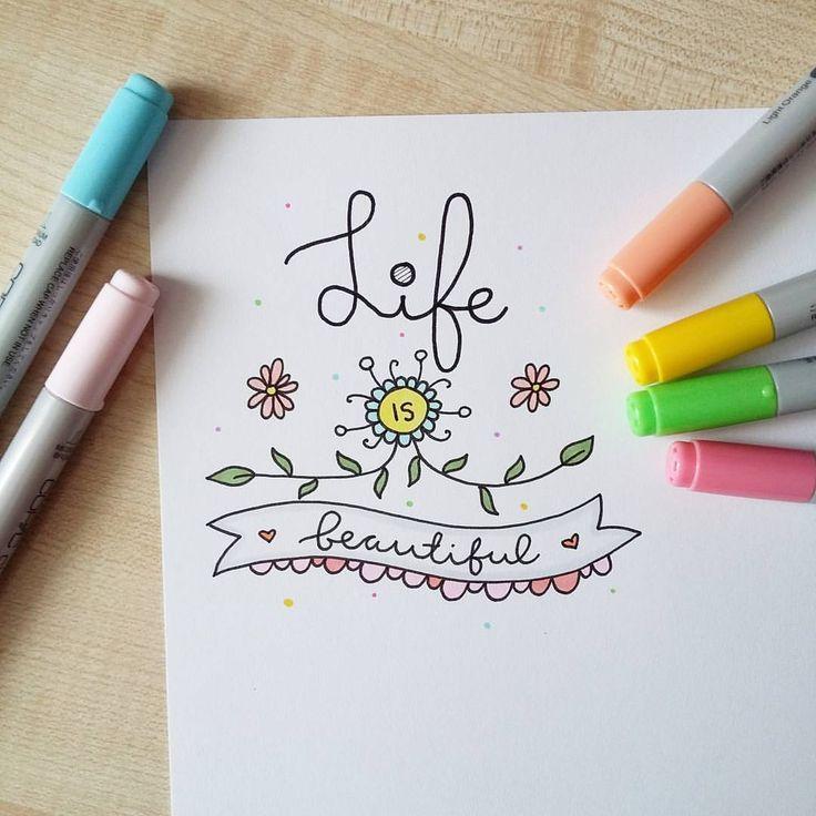 Срисовать легкие рисунки и красивые и прикольные маркером