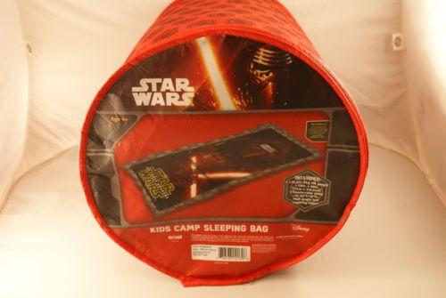 Kids Camping Sleeping Bag Star Wars Kylo Ren Disney Red With Storage Bag Age 4 + #Disney