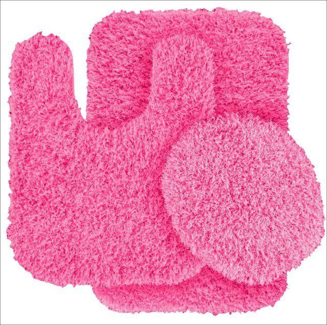 hot pink bathroom rugs