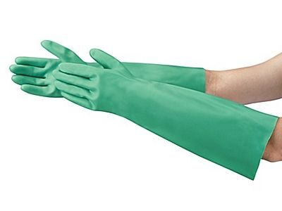 Ansell Sol-Vex® Chemical Resistant Nitrile Gloves - Extended Cuff, 18