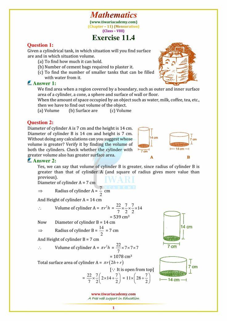 NCERT Solutions for Class 8 Maths Chapter 11 Class 8