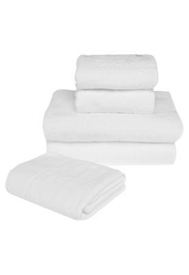 Jogo de Banho Buddemeyer Tantra Branco, composto por duas toalhas de banho, duas toalhas de rosto e um piso de banheiro confeccionados em algodão de fibra longa. Têm textura em relevo decorativa e toque de maior absorção. Ideal para decorar com estilo e praticidade.
