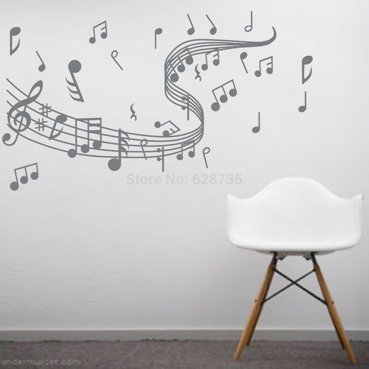 >> Click to Buy << Musical Note Wall Decals Creative Vinyl Wall Art Sticker Decor Dance in the Wind Music Notation Wall Stickers Music Wall Sticker #Affiliate